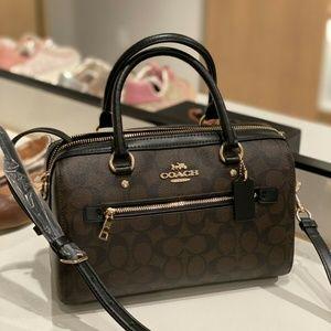 COACH Signature Rowan Satchel Handbag F83607